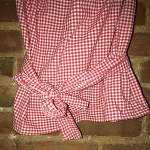 c63102bb5fa23 Who What Wear Tops - NWT Who What Wear Gingham Ruffle Bardot Top